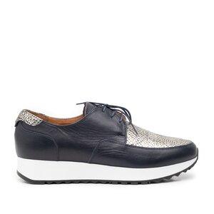 Pantofi casual dama din piele naturala,Leofex-102 Blue Box Sarpe