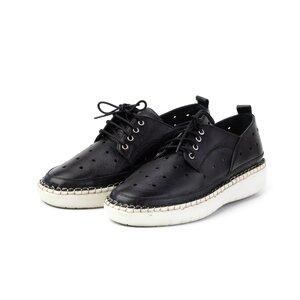 Pantofi casual dama din piele naturala, Leofex - 242 negru box