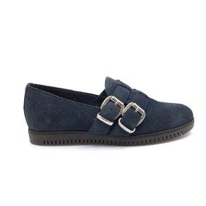 Pantofi casual dama din piele naturala,Leofex-Mostra Raluca Blue Velur