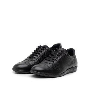 Pantofi casual/sport barbati din piele naturala, Leofex  - 518 negru box