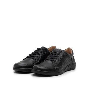 Pantofi casual/ sport dama din piele naturala, Leofex - 092 Negru box