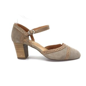 Pantofi casual dama din piele naturala,Leofex-280 Taupe Maro Velur