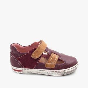 Pantofi din piele naturala – 120-3 bordo camel box
