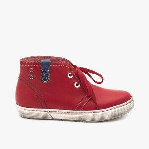 Pantofi din piele naturala box pentru copii – 107 rosu