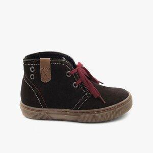 Pantofi din piele naturala intoarsa pentru copii – 107-c maro