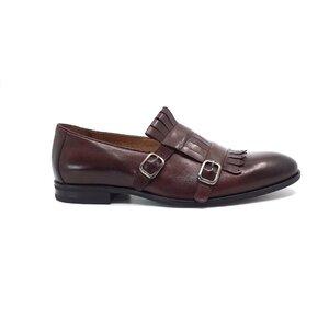 Pantofi  eleganti barbati, cu franjuri din piele naturala, Leofex - 586 visiniu box