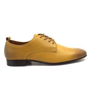 Pantofi eleganti barbati din piele naturala,Leofex - 112-2 Mustariu box