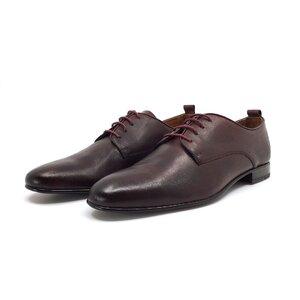 Pantofi eleganti barbati din piele naturala,Leofex - 112-2 Visiniu box