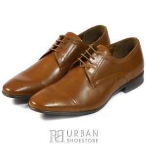 Pantofi eleganti  barbati din piele naturala  Leofex - 113 Ciocolata box