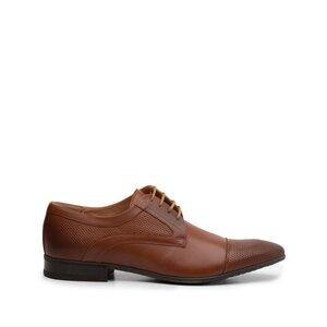 Pantofi eleganti barbati din piele naturala,Leofex - 113 cognac box