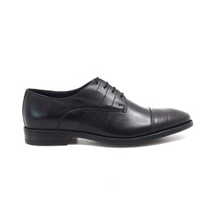 Pantofi eleganti barbati din piele naturala,Leofex - 115 negru box