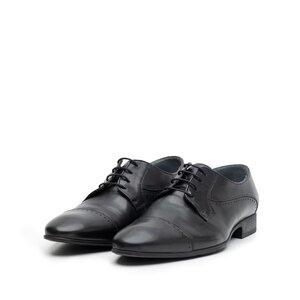 Pantofi eleganti barbati din piele naturala,Leofex - 123-3 negru box