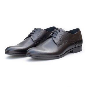 Pantofi eleganti barbati din piele naturala,Leofex - 512 N Negru Box