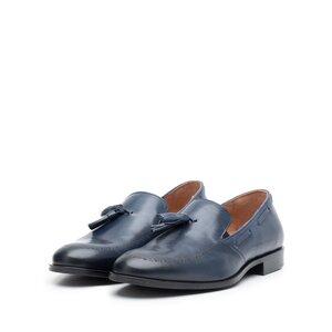 Pantofi eleganti barbati din piele naturala Leofex - 515 Blue Box