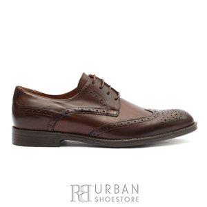Pantofi eleganti barbati din piele naturala, Leofex -516 Marone Box