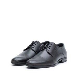 Pantofi eleganti barbati din piele naturala, Leofex - 522 negru box