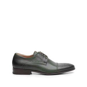 Pantofi eleganti barbati din piele naturala, Leofex - 529  Verde box