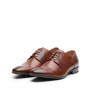 Pantofi eleganti barbati din piele naturala,Leofex - 622-1 Cognac box