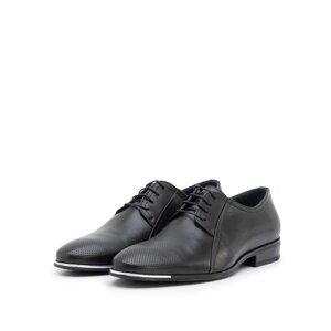 Pantofi eleganti barbati din piele naturala,Leofex - 743 negru box