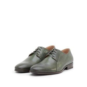 Pantofi eleganti barbati din piele naturala, Leofex - 743* Verde box