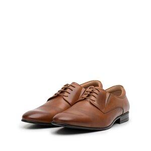 Pantofi eleganti barbati din piele naturala,Leofex - 777-1 cognac box