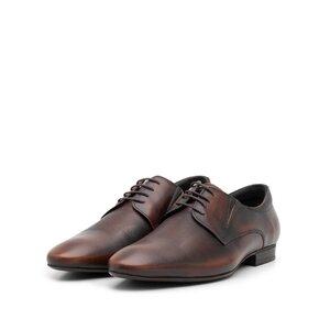 Pantofi eleganti barbati din piele naturala,Leofex - 793 maro box