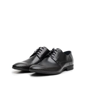Pantofi eleganti barbati din piele naturala, Leofex - 822 Negru Florantic