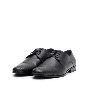 Pantofi eleganti  barbati din piele naturala, Leofex - 888 negru