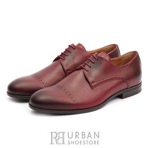 Pantofi eleganti barbati din piele naturala, Leofex- 931 Visiniu box