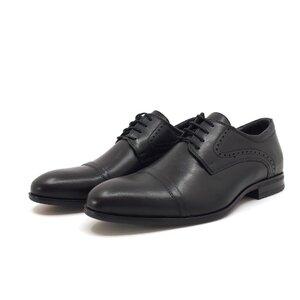 Pantofi eleganti barbati din piele naturala, Leofex - 953 Negru Box