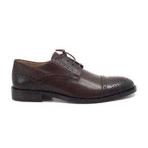 Pantofi eleganti barbati din piele naturala, Leofex - Mostra  George red wood