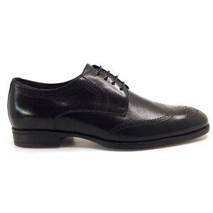Pantofi eleganti barbati din piele naturala, Leofex - Mostra Petru negru box