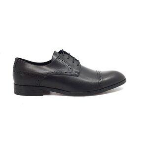 Pantofi eleganti barbati din piele naturala, Leofex - Mostra Robert negru box