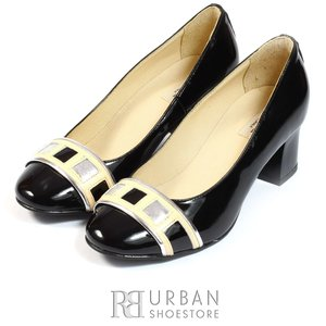 Pantofi eleganti dama din piele naturala  - 056 negru lac