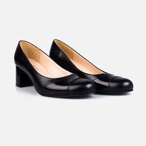 Pantofi  eleganti dama din piele naturala - 172 negru box lac