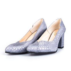 Pantofi eleganti dama din piele naturala - 2001 argintiu box