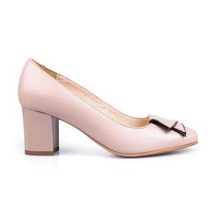 Pantofi eleganti dama din piele naturala  - 450 nude box