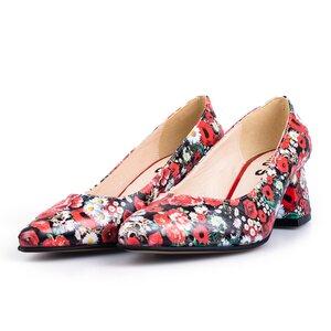 Pantofi eleganti dama din piele naturala  - 626 flori box