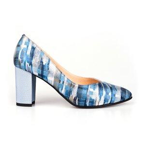 Pantofi eleganti dama din piele naturala, Leofex- 854 Azur