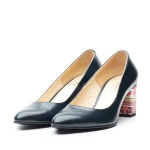 Pantofi eleganti dama din piele naturala  -  Mostra 1807 Blue Box