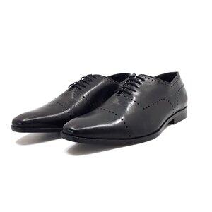 Pantofi eleganti barbati din piele naturala, Leofex - 123-4-negru box
