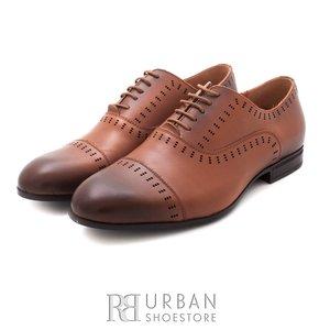 Pantofi eleganti din piele naturala - 890 cognac box