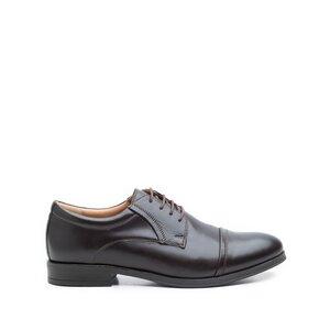 Pantofi eleganti barbati din piele naturala, Leofex - 930 maro box