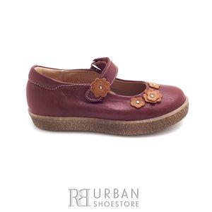 Pantofi fetite din piele naturala – 129-f bordo box