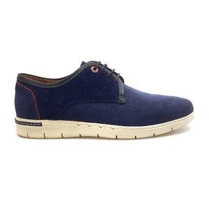 Pantofi sport barbati din piele naturala, Leofex - 149 Albastru velur