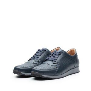 Pantofi sport barbati din piele naturala, Leofex - 519-1 Blue Box