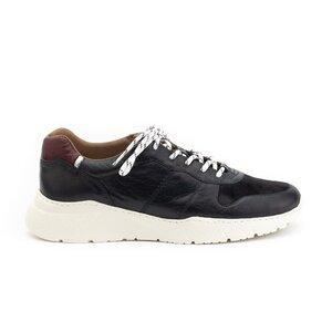 Pantofi sport barbati din piele naturala,Leofex - 519-1 Negru Box Velur