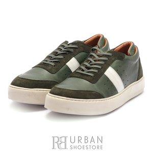 Pantofi sport barbati din piele naturala Leofex - 523 Verde Box Velur