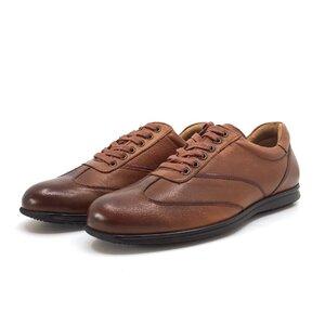Pantofi sport barbati din piele naturala, Leofex - 534 Cognac Box