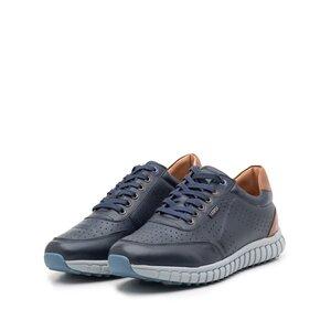 Pantofi sport barbati din piele naturala, Leofex - 884-1 Blue+camel box